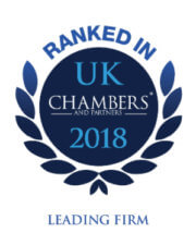 Leading Firm as ranked in UK Chambers 2018